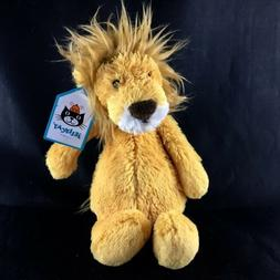 """Jellycat Bashful Lion, Small, 7 inches Small - 7"""" New"""