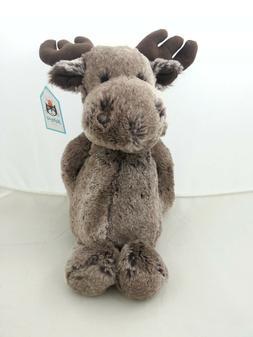 "Jellycat Bashful Marty Moose - Medium Stuffed Animal, 12"""
