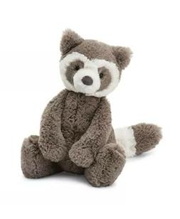 Jellycat Bashful Raccoon Stuffed Animal, Medium, 12 inches