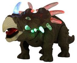 FanBell Battery Powered Triceratops Dinosaur Toy Realistic S