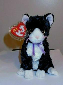 TY Beanie Baby - FUSSY the Cat  - MWMTs Stuffed Animal Toy