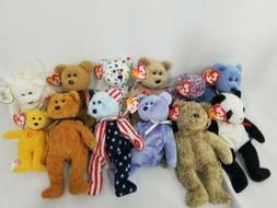 TY Beanie Babies 12 Teddy Bears Collectible Plush Stuffed An
