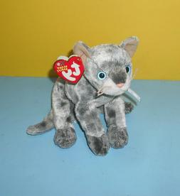 "Ty Beanie Babies 2002 Frisco Gray Cat Kitten 6"" Bean Plush S"