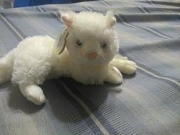 Ty Beanie Babies 2004 Bianca White Cat Kitten Plush Stuffed
