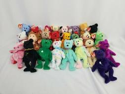 TY Beanie Babies 25 Teddy Bears Collectible Plush Stuffed An