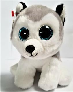 Ty Beanie Babies- 6'' BUFF The Husky  Stuffed Plush Animals