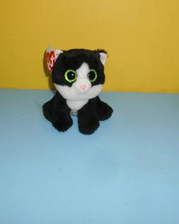 Ty Beanie Babies Ava Cat Plush Stuffed Animal Black White Ve