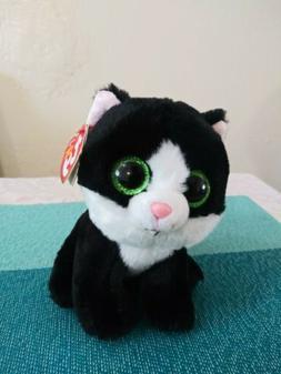 "Ty Beanie Babies Ava the Black & White Cat 6"" Stuffed Animal"