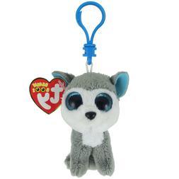 "TY Beanie Babies Boo's Slush Husky Key Clip 3"" Stuffed Colle"