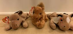 TY Beanie Babies Collection Stuffed Animals LOT Horse Derby