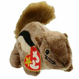 "TY Beanie Babies 7"" Cute Chipmunk  ** CHIPPER **  5th Gen Ne"