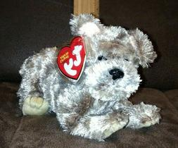 "Ty Beanie Babies Cutesy Dog Plush 7"" Stuffed Animal Brown 20"