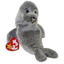 beanie babies gray seal slippery