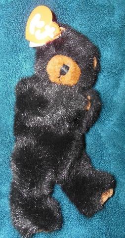 TY Beanie Babies Jointed Ivan Black Bear Plush Stuffed Anima