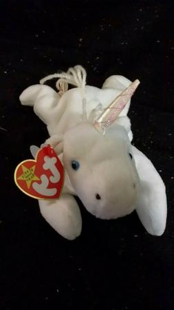 Beanie Babies Mystic Unicorn Ty Bean Bag Stuffed Animal Plus