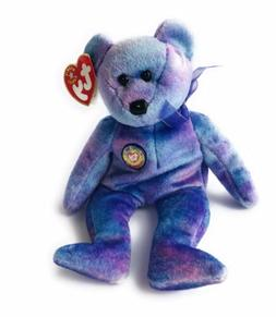 ty beanie babies official club, Tiny Purple Teddy Bear, Tiny