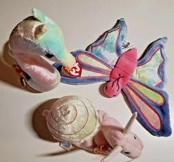 Ty Beanie Babies Pastel Stuffed Plush Animals Neon, Flitter,
