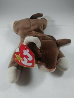 TY BEANIE BABIES BABY POUNCE the BROWN CAT MWMT DOB AUGUST 2