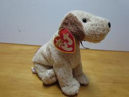 Ty Beanie Babies Rufus the Puppy dog, 2000, PE pellets, Mint