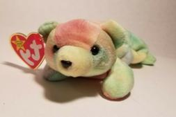 "TY Beanie Babies SAMMY TIE DYE TEDDY BEAR 9"" Bean Bag Stuffe"
