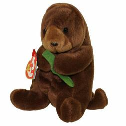 TY BEANIE BABIES BABY SEAWEED the OTTER PVC STYLE 4080 DOB 3