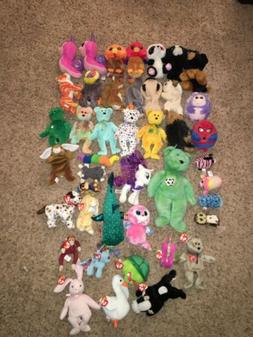 Ty Beanie Babies Toy Stuffed Animal Plush Beanie Boos Lot Bu