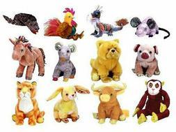 TY Beanie Babies - ZODIAC BEANIE BABIES  (Dragon, Dog, Pig,