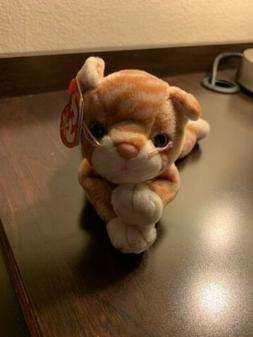 TY Beanie Baby - AMBER the Gold Tabby Cat  - MWMTs Stuffed A