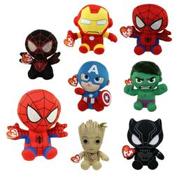 TY Beanie Baby Avengers Marvel Plush Stuffed Animal Toy Regu