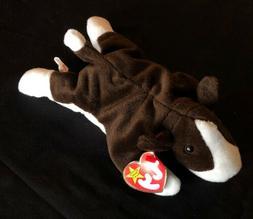 TY Beanie Baby - BRUNO the Bull Terrier Dog  - Stuffed Anima