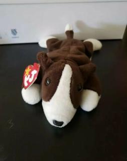 TY Beanie Baby - BRUNO the Bull Terrier Dog  -MWMTs Stuffed