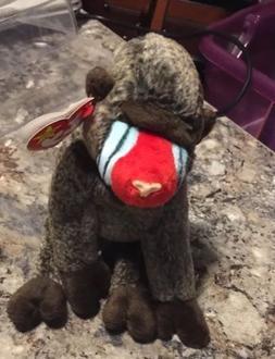 TY Beanie Baby - CHEEKS the Baboon  Stuffed Animal Toy & Min