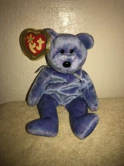 TY Beanie Baby - CLUBBY 2 the Platinum Bear  - MWMTs Stuffed
