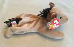 """TY Beanie Baby DERBY THE TAN HORSE 8""""  STUFFED ANIMAL Toy 19"""