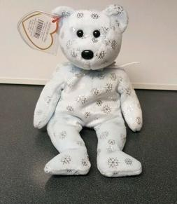 TY Beanie Baby - FLAKY the Snowflake Bear  - MWMTs Stuffed A