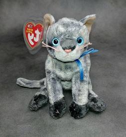 TY Beanie Baby - FRISCO the Gray Cat Plush Stuffed Animal To