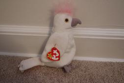 TY Beanie Baby (KUKU the Cockatoo Bird  Stuffed Animal