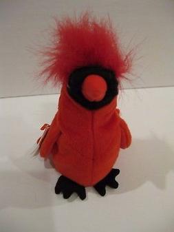 Ty Beanie Baby Mac Cardinal Bird Plush Stuffed Animal Retire