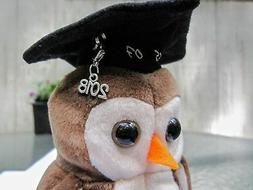 """TY BEANIE BABY Owl """"Wise"""" class of 2018 Owl ALTERED from 199"""