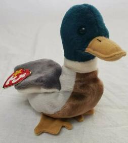 "Ty Beanie Baby - Plush Mallard Duck ""Jake"" - 6"" tall - Retir"