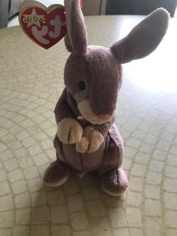 Ty Beanie Baby Springy The Bunny Rabbit Rare Lavender Easter