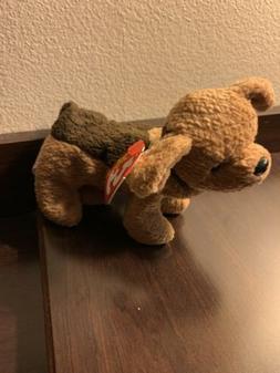 TY Beanie Baby - TUFFY the Dog  - MWMTs Stuffed Animal Toy
