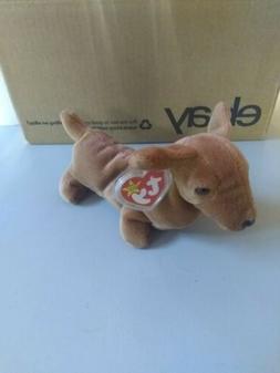 TY Beanie Baby - WEENIE the Dachshund Dog MWMTs Stuffed Anim