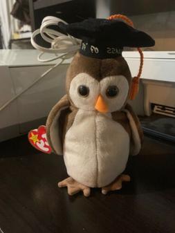 TY Beanie Baby - WISE the 1998 Owl  - MWMT's Stuffed Animal