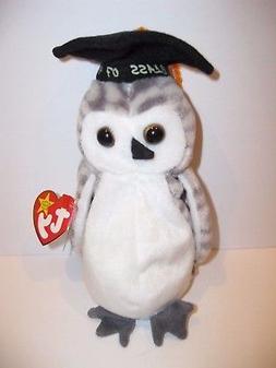 Ty Beanie Baby Wiser Owl Bird Plush Stuffed Animal Retired W