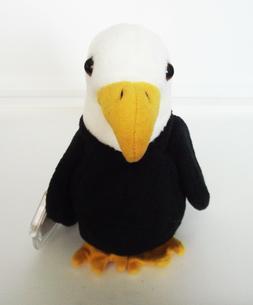 NEW Ty Beanie Baby Baldy The Bald Eagle 1996 Retired PVC Plu