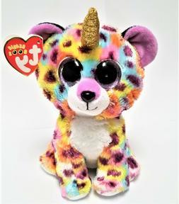 Ty Beanie Boo's - 6'' Giselle The rainbow Leopard w/horn Stu