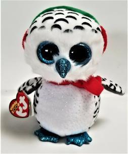 Ty Beanie Boos - 6'' Nester The Christmas Owl Stuffed Plush