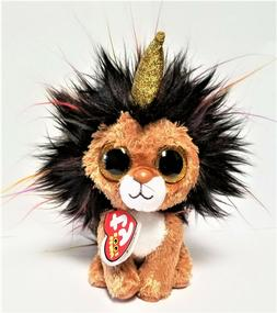 Ty Beanie Boo's - 6'' Ramsey The Unicorn  Lion Stuffed Plush