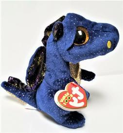 Ty Beanie Boo's - 6'' Saffire The Blue Dragon Stuffed Plush